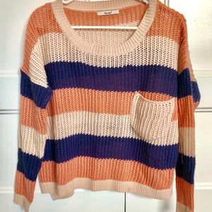 Striped, Baggy, Large Knit Sweater by Papaya, Med